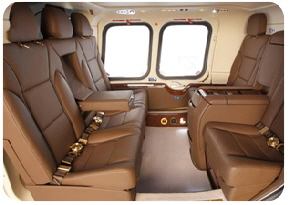 Helicopter charter helicopter interior 6 Place agusta 109