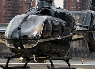 EC135 Helicopter at Battersea Heliport London